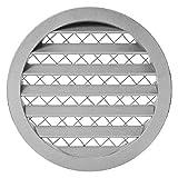 Rejilla de ventilación redonda de aluminio, 250 mm de diámetro