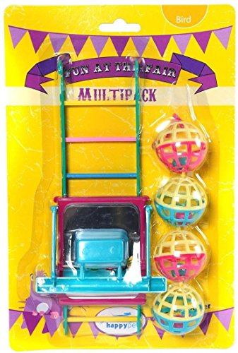 Happy pet bird toy mp bal/ladder/perch 22X10X4 CM