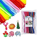 BECAON 300 Pcs Pipe Cleaners - 24 Colors Value Pack Creativity Craft Chenille Stems for DIY Art and Crafts Creative Projects and Decorations for Kids and Toddlers