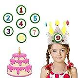 YUQIN Corona Cumpleaños Bebe,Corona Cumpleaños,Corona cumpleaños fiesta,Cumpleaños Princesa Corona,para bebés