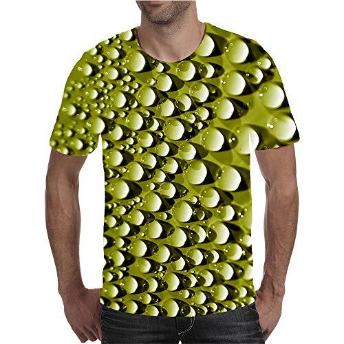 AXDNH Camiseta de la impresión 3D, Moda Unisex Manga Corta Visual del Arte del Modelo Personalizado del Descenso del Agua Aptitud Superior Ocasional,B,6XL