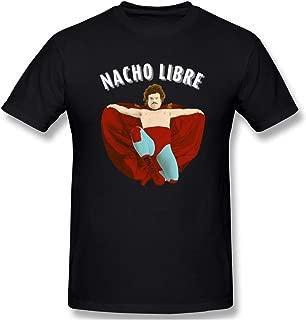 Rebeccarcarter Artic Cool Heritage Short Sleeve Black Nacho Libre T Shirt for Men