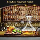 Decanter,Baban Wein Dekanter, 1L Rotwein Bleifreies Glasdekanter, Dekantiergefäß Glasbelüftungsweinkaraffe, Perfektes Geschenkset Dekantierer für Weihnachten Weinliebhaber - 5