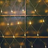 woohaha LED Net Mesh Fairy String Decorative Lights 192 LEDs 9.8ft x 6.6ft with 30V Safe Voltage for Christmas Outdoor Wedding Garden Decorations (192LED, Warm White)