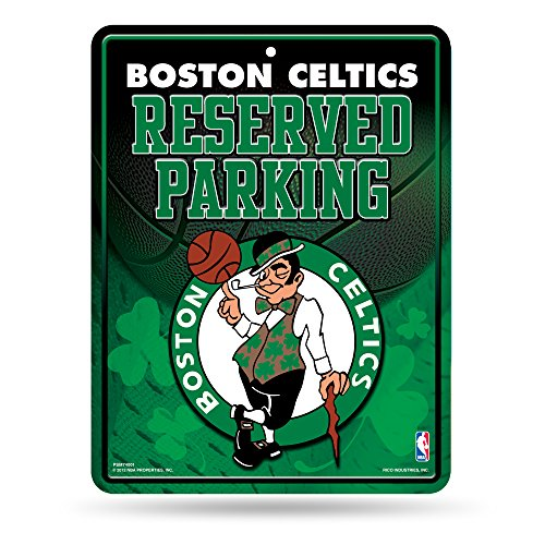 NBA Boston Celtics 8.5-Inch by 11-Inch Metal Parking Sign Décor