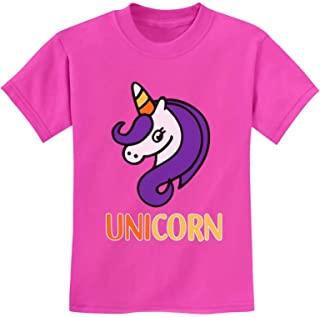 Cute Halloween Candy Corn Unicorn Youth Kids T-Shirt