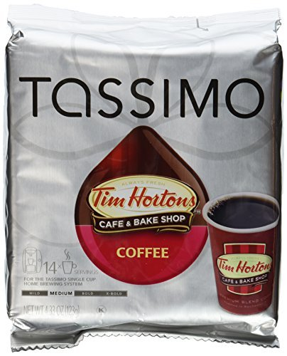 Tim Hortons Coffee 4.33 oz each, pack of 2 by Tassimo