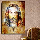 REDWPQ Nuevo diseño Jesucristo Figura HD Cuadros de Pared para Sala de Estar Calidad Lienzo Pintura al óleo decoración del hogar Carteles Obras de Arte 40 * 60 cm sin Marco