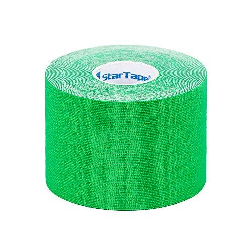 SL StarTape Kinesiologie Tape Grün - Sporttape Pflaster 5 cm breit und 550 cm lang - Sport Bandage - Verband zum Tapen