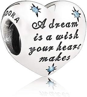 Pandora 791593CFL Silver Disney Cinderella Heart Charm