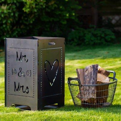 Feuerkorb Hochzeit Mr&Mrs (individualisierbar) - Geschenk