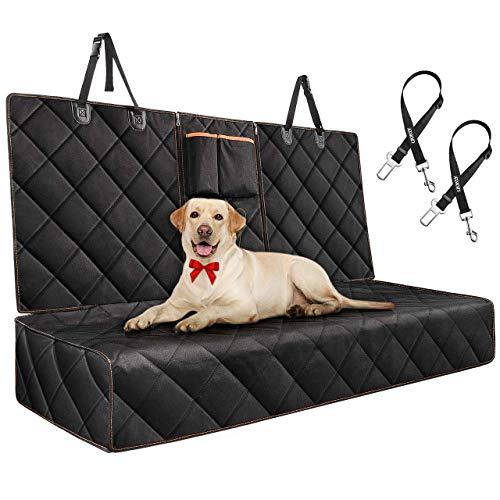 Telo Auto per Cani Posteriore Universale Auto Antiscivolo Impermeabile Protezione Coprisedile per Cani con Rete di Prospettiva e Sacchetto Automobili, camion, SUV