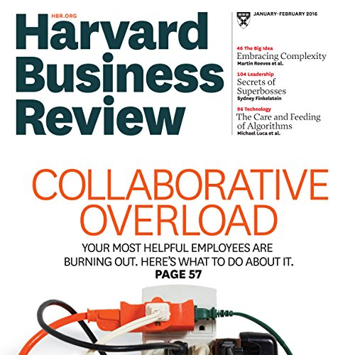 Harvard Business Review, January 2016 audiobook cover art