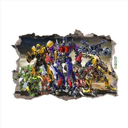 LCFF Wandtattoo 3D Wandaufkleber Abziehbilder Transformers Optimus Prime Hornet Boss Robot Hero Removable Dekorative Tapeten Tapete Poster Self Adhesive Kind-Raum-Wand-Dekor 60x90cm