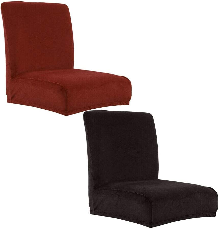 Classic Slipcovers 2Pcs Velvet Stretch Spring new work Bar Cha Stool Counter Cafe Dining