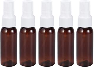 SUPVOX 20PCS Mini Plastic Refillable Spary Bottle Empty Travel Bottle For Make Up and Skin Care 30ML (Brown)