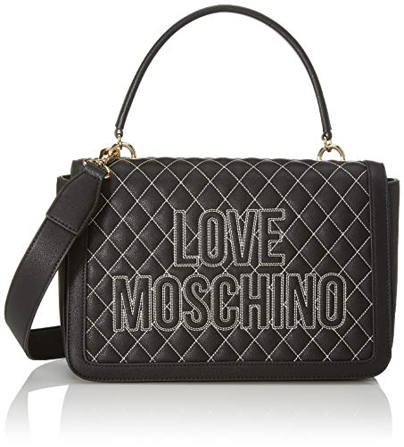 Love Moschino Borsa Quilted Nappa PU Sac /à bandouli/ère Femme 7x13x22 centimeters Noir W x H x L
