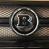 ベンツG500 G550 G55 G63 G65 AMGのためのクロム3D BRABUSフロントラジエーターグリルエンブレム