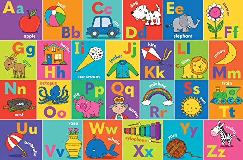 Alphabet Kids' Floor Puzzle (24 Pieces) (36 inches wide x 24 inches high)