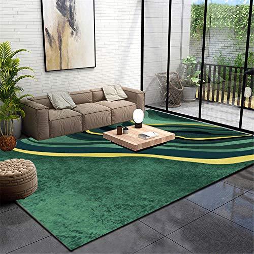 WQ-BBB Dywan dywan kuchenny nowoczesny design salon dywan krótkie włosy super luksusowy dywan zielony żółty abstrakcyjny element dywan łazienkowy 40 x 60 cm