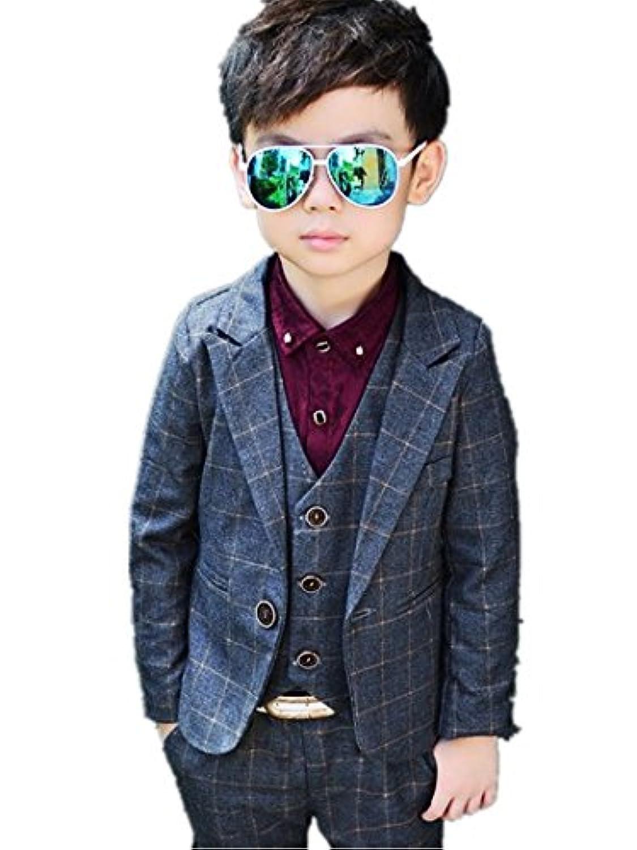 子供スーツ キッズ服 男の子衣装 ズボン、コート、ベスト 3色入荷 卒業式/入園式/発表会/七五三/フォーマル 100~130cm