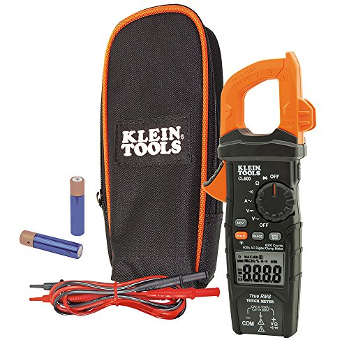 Klein Tools CL600 AC DC Auto-Ranging 600 Amp Digital Clamp Meter - Standard AC Current
