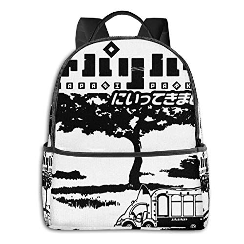 IUBBKI Mochila lateral negra Mochilas informales Anime & Japari Park - Black Student School Bag School Cycling Leisure Travel Camping Outdoor Backpack