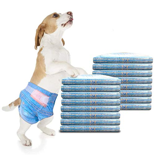 RCRuning-EU Pannolini per Cani Cane Femmina Pannolini USA e Getta Cucciolo di Pannolini -16Pack (S:3-5KG)
