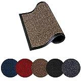 Trendsco - Dirt Trapper Door Mat Indoor & Outdoor - Non Slip Rubber Backing Carpet and Floor Mat for Home, Kitchen & Office Use - Super Absorbent Washable Rug Mat for Front & Back Door || Beige
