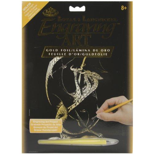 Royal Brush GOLDFL-26 goudfolie-gravure-set, 20,3 x 25,4 cm, draak met 3 koppen