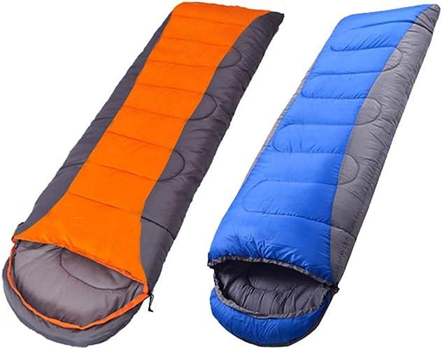 WXL Sac de Couchage Camping en Plein air pour Adulte portable Double avec artefact de Voyage,Orange-2.4kg