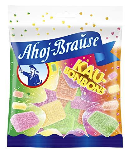 Frigeo Ahoj-Brause Kaubonbons - Brausiger Kauspaß in Den Geschmacksrichtungen Waldmeister, Himbeere, Orange und Zitrone, 16er Pack (16 x 150 g)