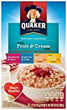 Quaker Instant Oatmeal Fruit & Cream, Variety Pack, 8-Count Boxes (Pack of 4)