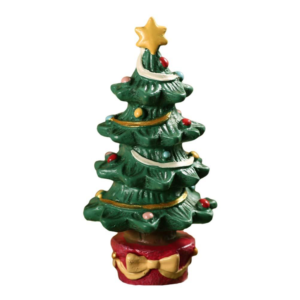 Bankaa Árbol de Navidad/Caja de Regalo Adorno de Acuario Adorno de Resina de Acuario Decoración de paisajismo Creativo: Amazon.es: Hogar
