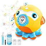 Outerman Octopus Auto Bubble Maker with Music and Light, 3000+ Bubbles/Min Bubble Machine for Indoor Outdoor Parties, Bubble Blower with 160ml Bubble Solution (3 AA Batteries Needed, Not Included)