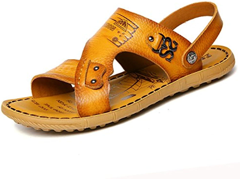 Herren Sandalen Schuhe Mann Belüftung Korea Version lssig cool Mode Hausschuhe Strand Schuhe
