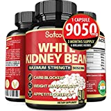 Pure White Kidney Bean Capsules 9050 mg, Carb Blocking Benefits, Support Carbohydrate and Starch Blocking - 3 Months Supply.*