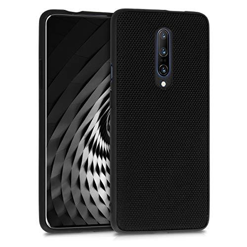 kwmobile Funda Compatible con OnePlus 7 Pro - Carcasa Protector Trasera de Nailon para móvil en Negro