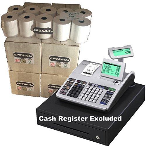 eposbits® marca rollos para que se ajuste a Casio se-s400SES400SES se s S400400en efectivo Registro–80rollos
