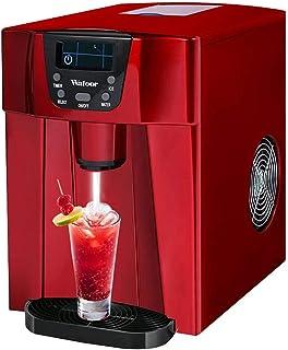 sahadsbv Machine à glaçons Commerciale 2 en 1 avec Distributeur d'eau - Produits de 33 LB de glaçons Quotidiens prêts en 6...