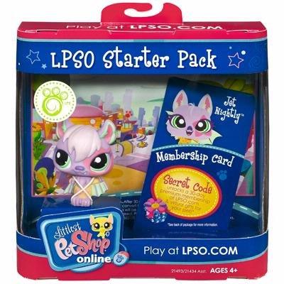 Hasbro Littlest Pet Shop Online LPSO Web Game Starter Pack Jet Nightly Bat [Toy]