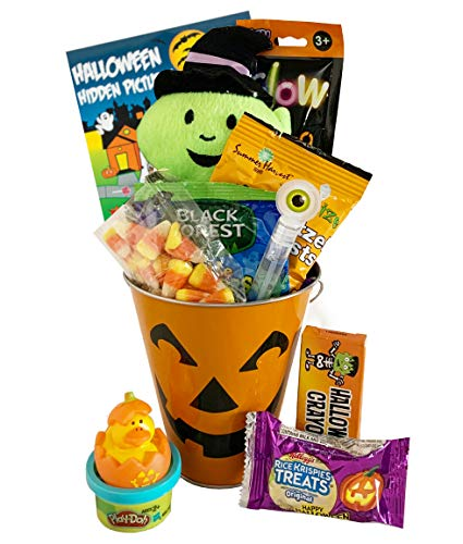 Filled Halloween Basket - For Young Kid Child Toddler