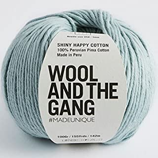 Wool and the Gang Shiny Happy Cotton 150 Duck Egg Blue