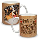 Kaffeebecher mit Motiv Hund Große XXL Tasse Australian Shepherd