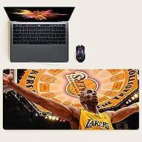 NBAマウスパッド特大バスケットボール戦士レイカーズカレー神戸ジョーダンアーヴィングジェームスデュラントテーブルマットキーボードマット滑り止めマットeスポーツ防水ラバーベース-NBA-13||800x300mm