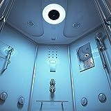 Home Deluxe – Duschtempel – Exclusive weiß – Maße: 150 x 150 x 220 cm – inkl. Whirlpool und Dampfsauna - 4