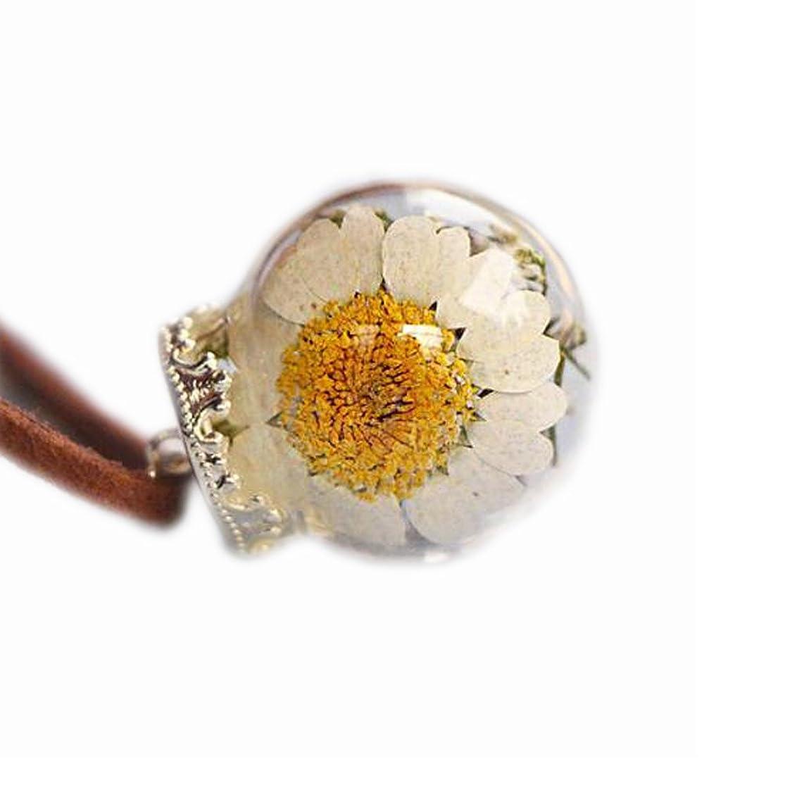 管理怒って持参美しい乾燥した花のペンダントネックレス特別なネックレス良いギフト