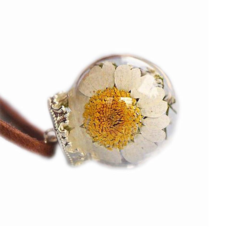 パンアリ流行美しい乾燥した花のペンダントネックレス特別なネックレス良いギフト