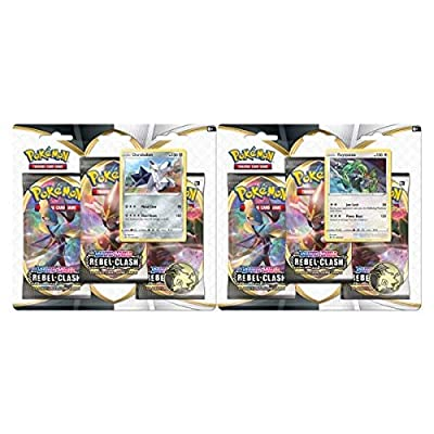 Pokémon POK80685-D12 TCG: Sword & Shield 2 Rebel Clash 3 Pack (uno al Azar) por Pokémon