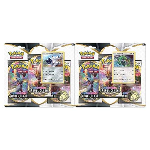 Pokémon TCG: Sword & Shield-Rebel Clash Three-Booster Blister, Multi (173-80685)